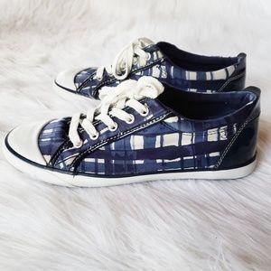 Coach Barrett Sneakers | Plaid | Navy & White
